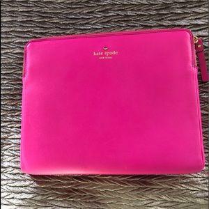 Kate Spade pink  Laptop iPad case